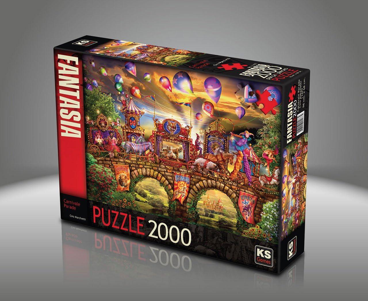 Puzzle de 2000 piezas – Ciro Marchetti: Carnival Parade: Amazon.es: Juguetes y juegos