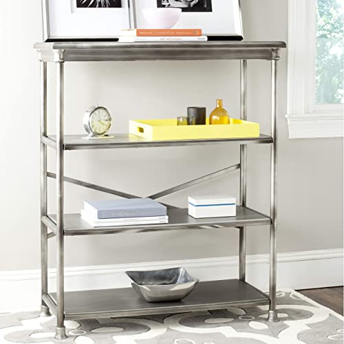 Editors' Choice: Safavieh American Homes Collection Jamison Dark Silver Large Bookcase