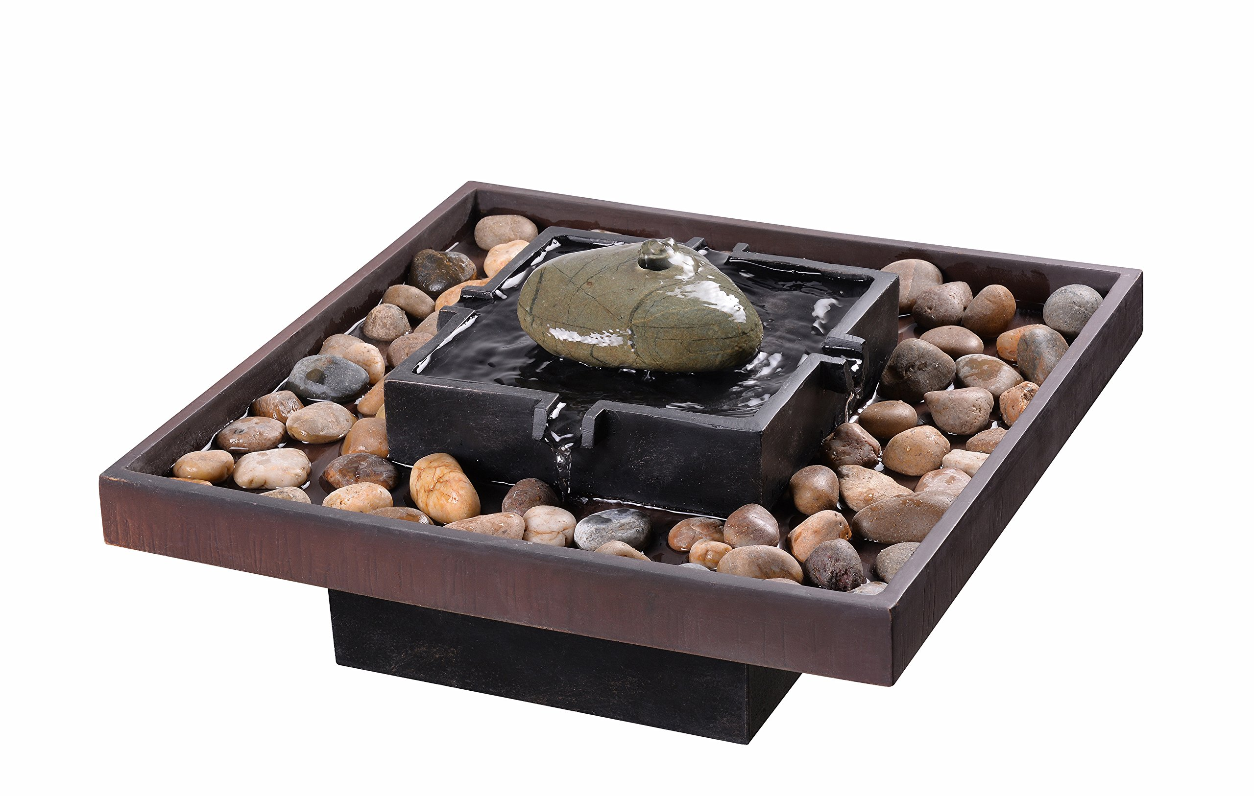 Kenroy Home 51041BRZ Zen Indoor/Outdoor Table Fountain, 9'' H, Two Toned Bronze