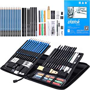 amazon com h b sketching pencils set 48 piece drawing