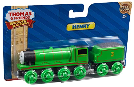 Fisher Price Thomas Friends Wooden Railway Henry Engine Wood