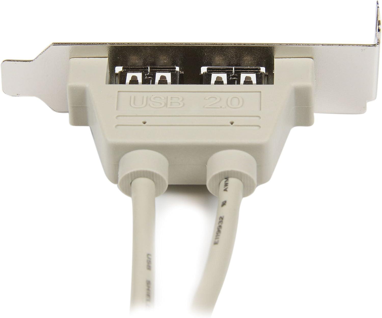 USBPLATELP 2 Port USB Bracket USB 2.0 A Female StarTech.com 2 Port USB A Female Low Profile Slot Plate Adapter
