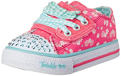 2618ba07de1f Skechers Kids 10469N Twinkle Toes Shuffles Light-Up Sneaker (6 M US Toddler)