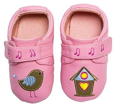 29c391ba17667 Rose   Chocolat Baby Girls  Song Bird Walking Baby Shoes Pink Size  3.5  Child