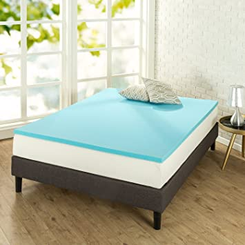 zinus 15 inch gel memory foam mattress topper twin