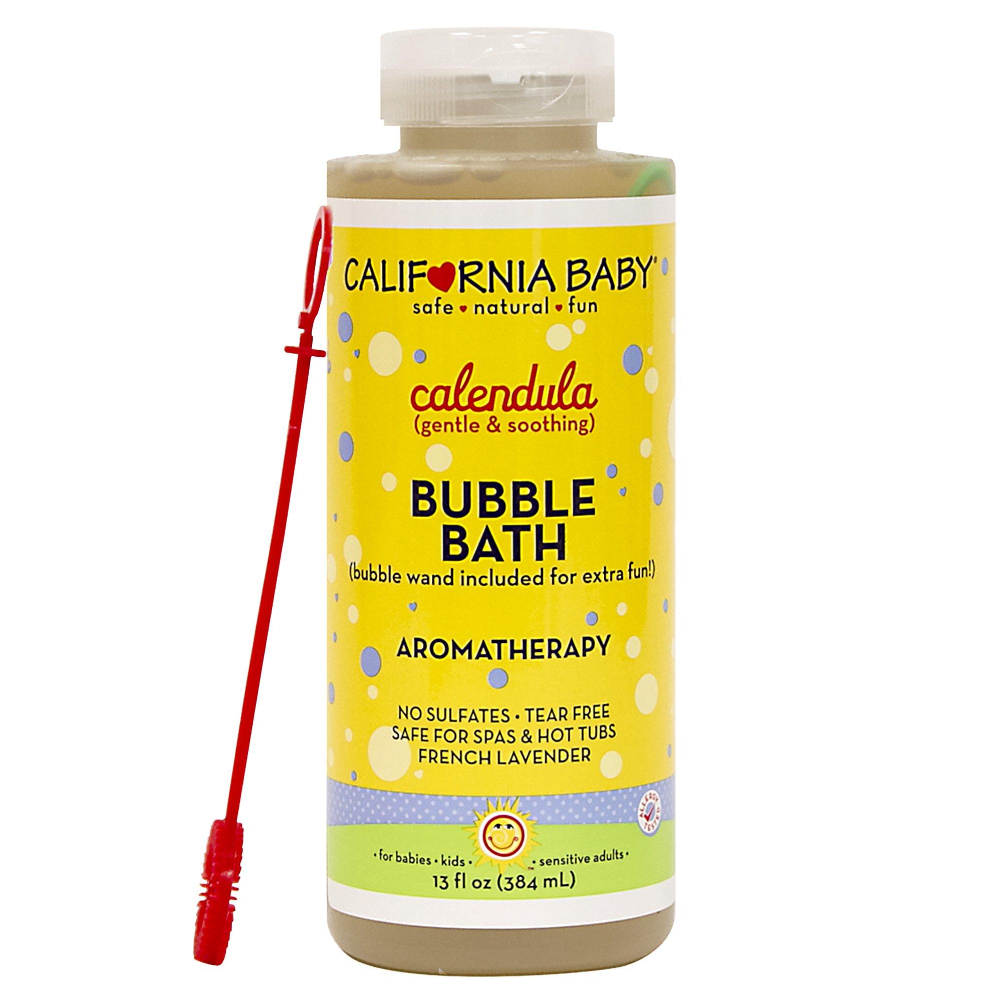 California Baby Calendula Bubble Bath | No Tear | Pure Essential Oils for Bathing | Hot Tubs, or Spa Use | Moisturizing Organic Aloe Vera and Calendula Extract |(13 fl. ounces) by California Baby