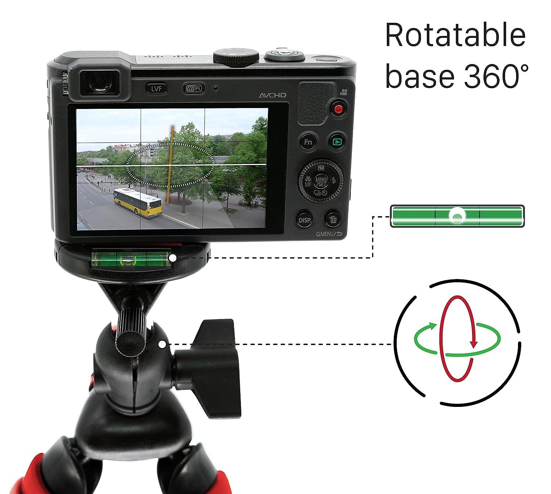 Verde Montaje Universal 360/° Compacta con Base de Soporte Pulpo Mygadget Mini Tr/ípode Ultra Flexible para C/ámara con Liberaci/ón r/ápida de Placa