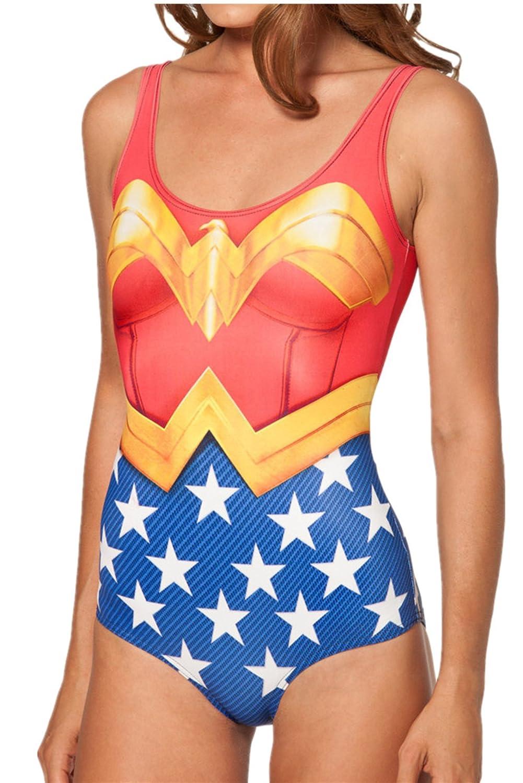 Women one Piece Swimsuit Beach Wear Wonder Woman - Low Cost - Standard Size