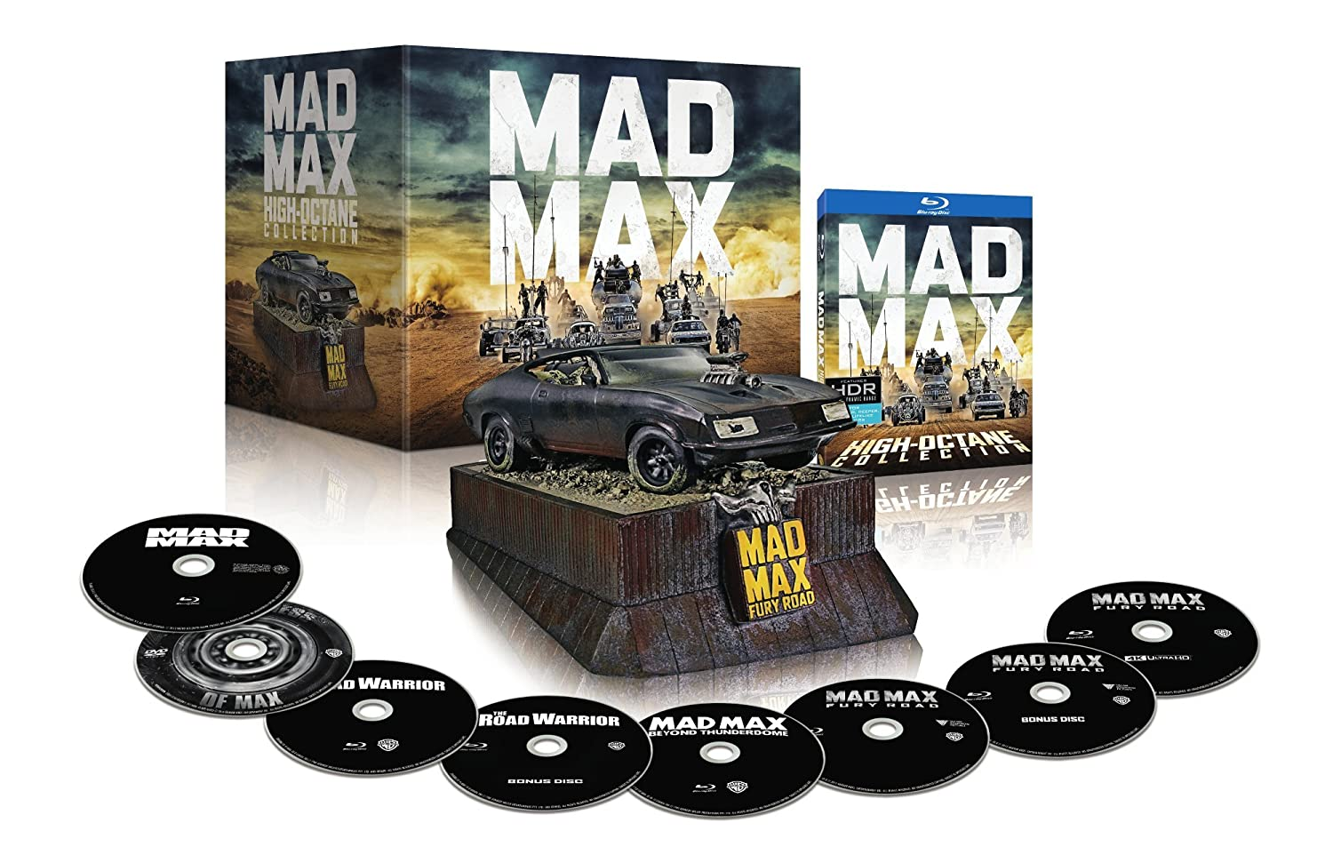 Amazon.com: Mad Max High Octane Collection with Interceptor (Amazon  Exclusive/8 Disc/BD/DVD/4K UHD) [Blu-ray]: Various, Various: Movies & TV
