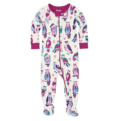 Hatley Footed Coverall-Happy Owls, Grenouillère Bébé Fille