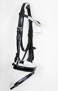 Noir ou Marron avec Grip R/ênes Easytrek Premium Cuir Bitless Bride