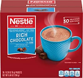 Nestle Sugar Free Hot Chocolate Mix, Hot Cocoa, Rich Chocolate Flavor, 0.28 oz
