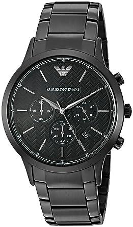 bbdddc175a Amazon.com: Emporio Armani Men's AR2485 Dress Black Watch: Emporio ...