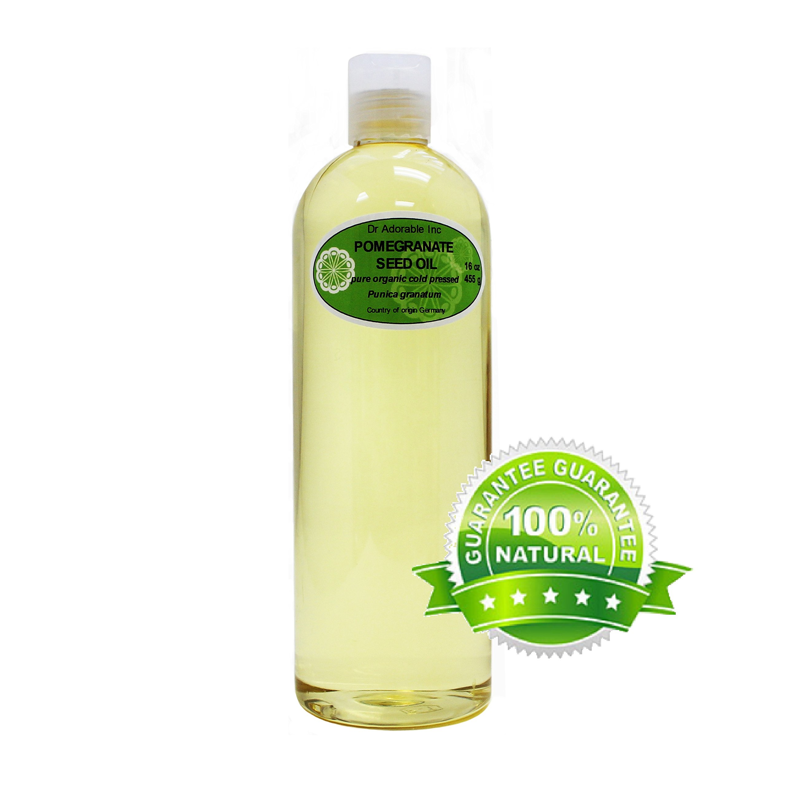 Organic Pure Carrier Oils Cold Pressed 16 Oz/1 Pint (Pomegranate Oil)