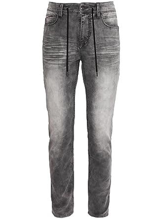 Sublevel Herren Sweat-Jeans mit Kordel   Jogg-Jeans   Bequeme Sweat-Hose in  Jeansoptik  Amazon.de  Bekleidung 0c6efc11aa