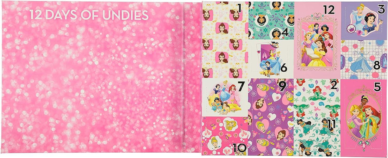 Disney Girls Princess 12 Days Un-Boxing Panty Giftbox