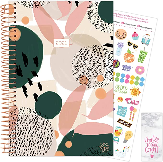 Weekly/Monthly Agenda Organizer Book with Stickers & Bookmark