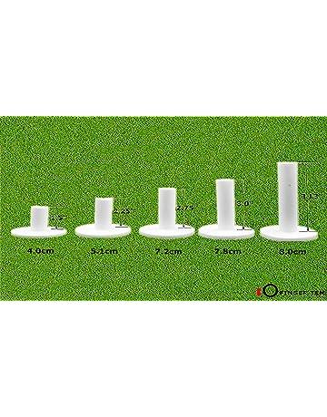 Finger Ten Juego de 5 Tees de Goma de Golf para la conducción, Diferentes tamaños