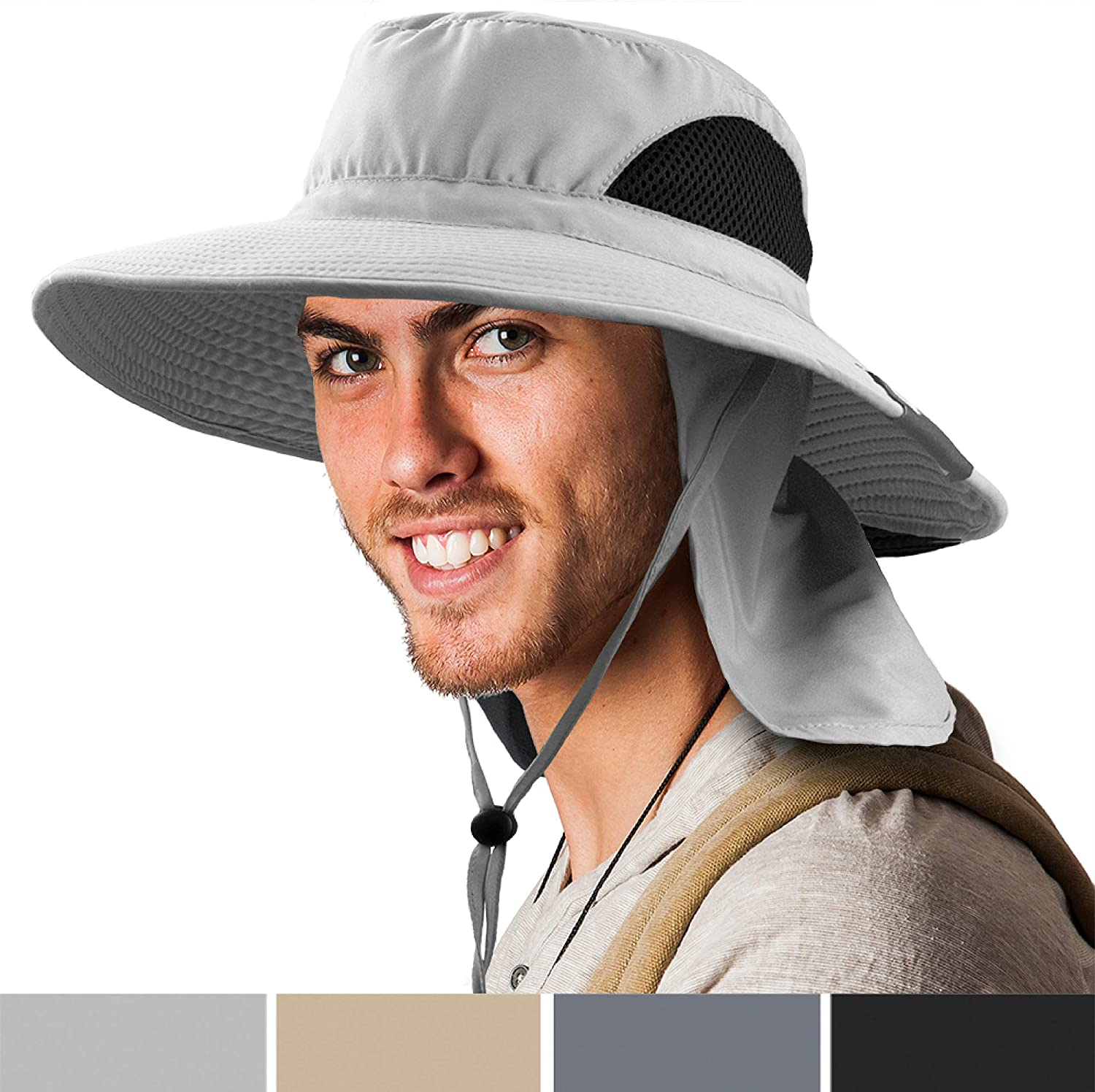 Premium Boonie Hat Wide Brim Sun Hat for Fishing Hiking Outdoor Men Women UPF50+