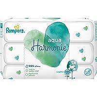 Pampers - Aqua - Harmonie Lingettes pour Bébé 144 Lingettes - Lot de 3