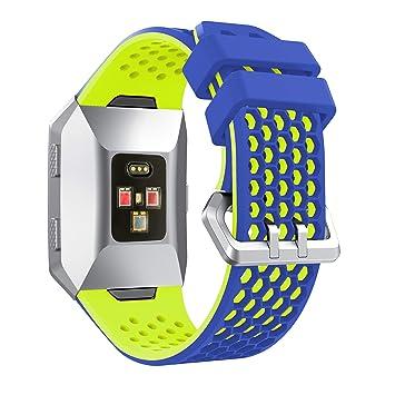 YaYuu Fitbit Ionic Correa de Reloj, Banda de Reemplazo Silicona Suave Sports Pulsera para Fitbit Ionic Smart Watch: Amazon.es: Deportes y aire libre