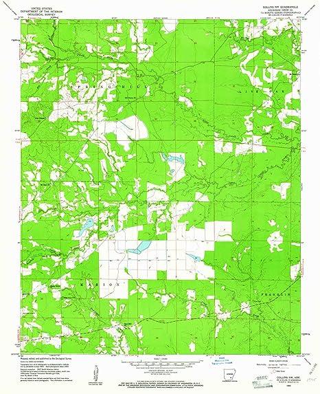 Amazon Com Yellowmaps Collins Nw Ar Topo Map 1 24000 Scale 7 5 X