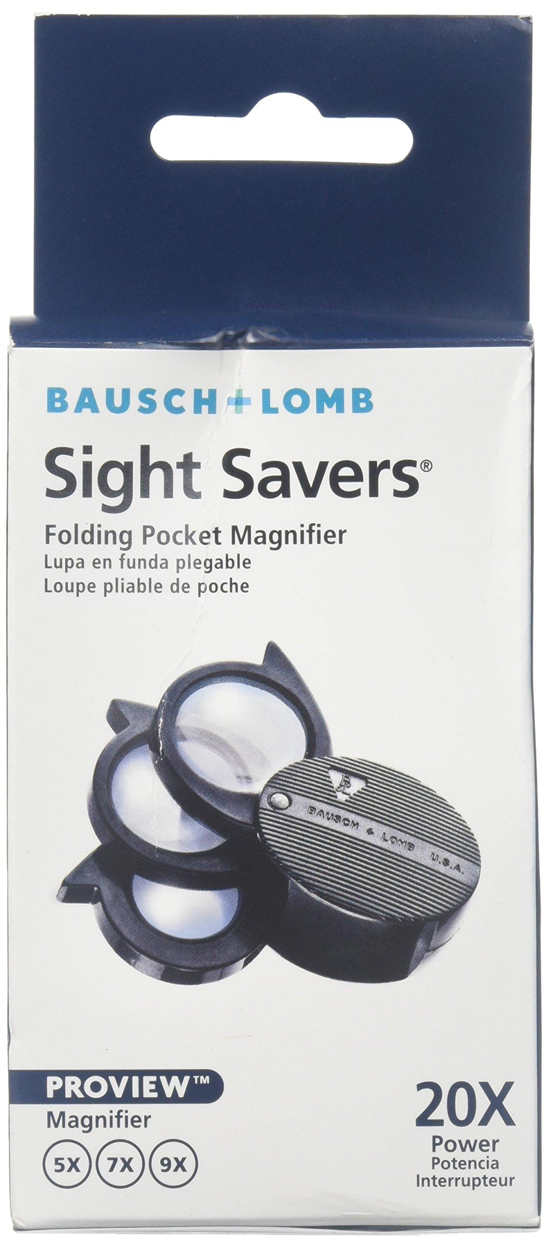 Bausch & Lomb Folding Pocket Magnifier, 5-20x