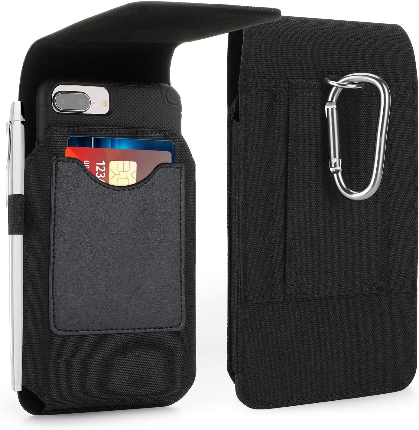 iPhone 11 Pro Max Belt Clip Case iPhone 6Plus Fits w//Thin Case On Mopaclle iPhone 12 Pro Max Holster Case 6s Plus Premium Leather Case Cell Phone Pouch Belt Holder for iPhone 8 Plus 7 Plus