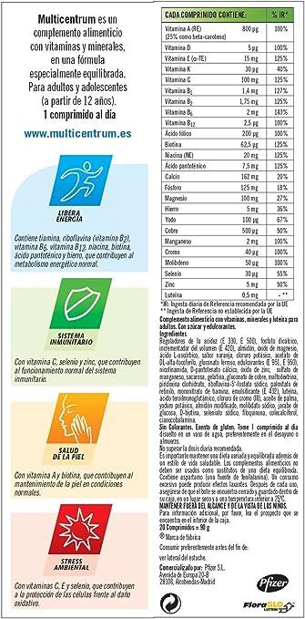 Multicentrum, Complemento alimenticio con 13 vitaminas, 11 ...
