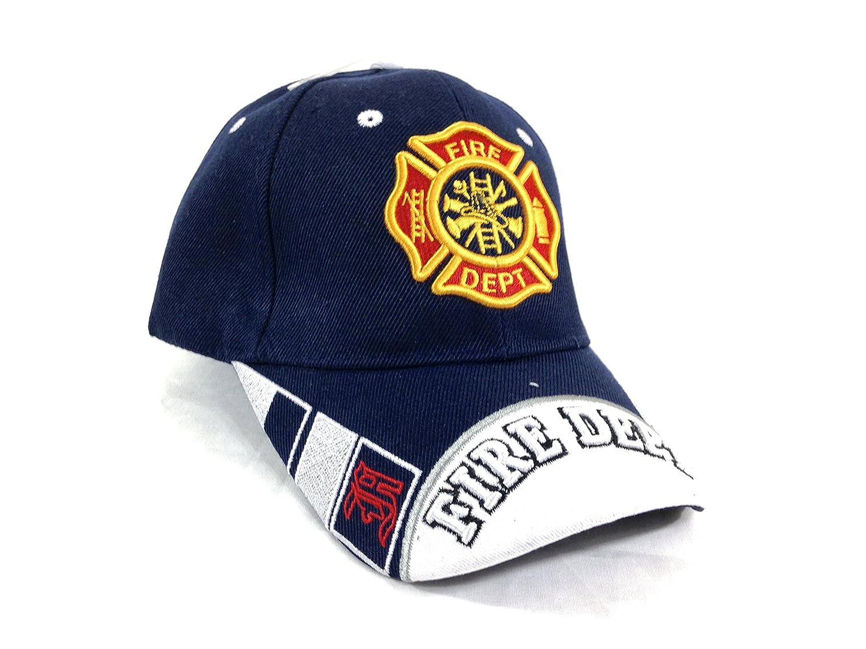 b5d62c08f61e5 KY s U.S Fire Department - Casquette brodée embleme des Pompiers americain  - Bleu - Taille Unique  Amazon.fr  Vêtements et accessoires