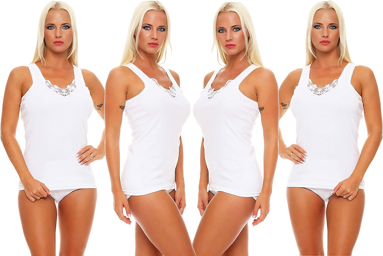 Good Deal Market Cocain 4er Pack Damen Unterhemden Verschiedene Modelle Gr 36 38 40 42 44 46 48 50 52 54 56 58 60 62