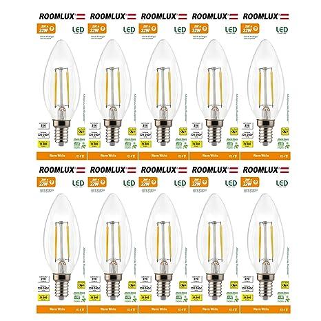 10X Roomlux E14 2W 230lumen 2700K ,e14,bombillas,bombilla,bombilla led,