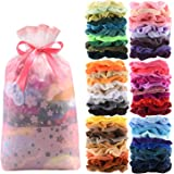 60 Pcs Premium Velvet Hair Scrunchies Hair Bands for Women or Girls Hair Accessories with Gift Box,Great halloween…
