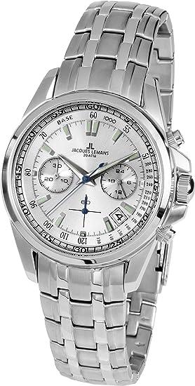 355c97d5ac5b Jacques Lemans Liverpool - Reloj de Pulsera analógico de Cuarzo Acero  Inoxidable 1 - 1830E  Amazon.es  Relojes