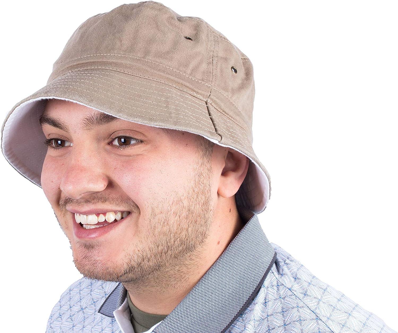 Fenside Country Clothing Cappello da sole reversibile da uomo con prese daria laterali in tinta unita