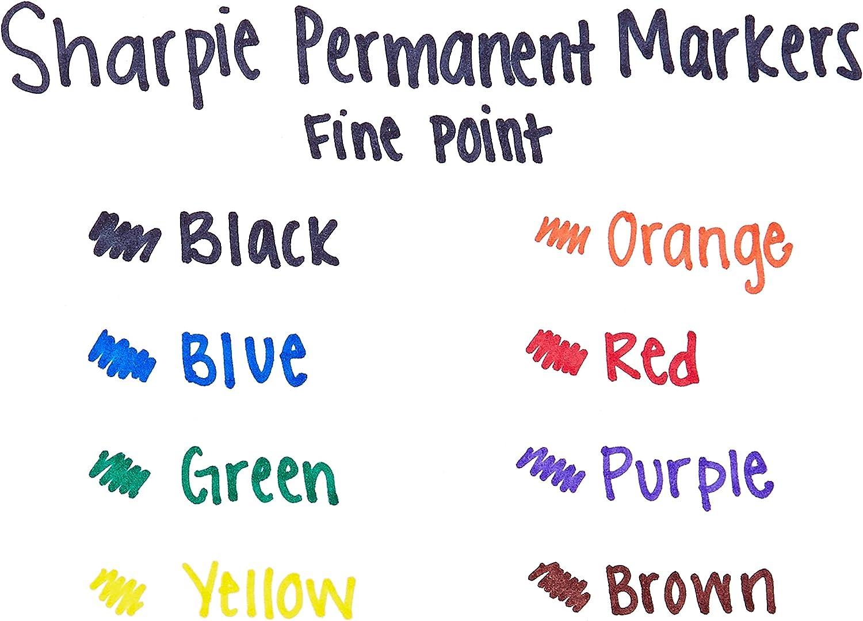 Sharpie 30078 Permanent Markers Fine Point