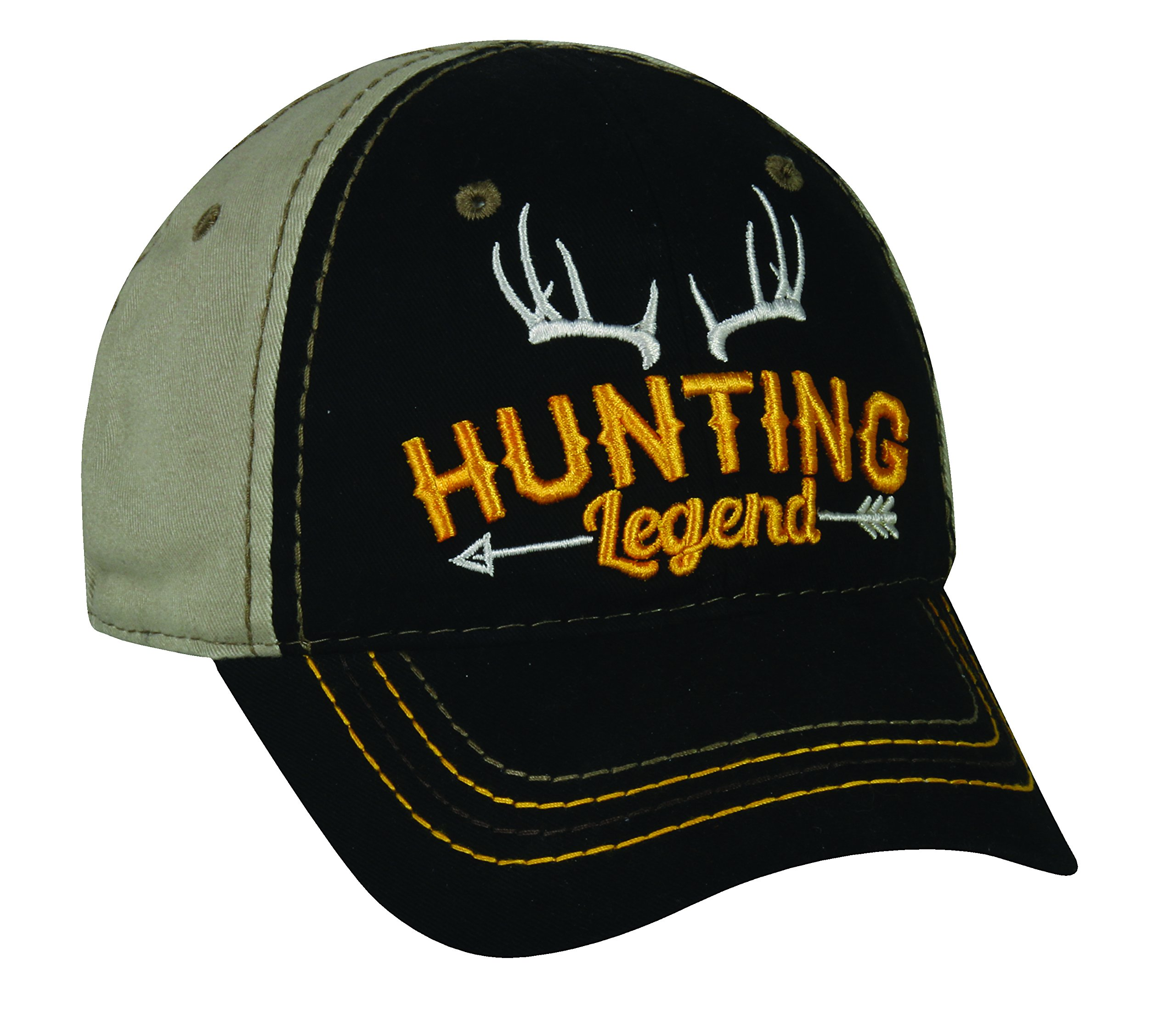 Outdoor Cap Adjustable Closure Toddler Hunting Legend Cap, Black/Khaki