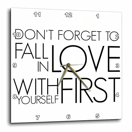 Amazoncom 3d Rose Dont Forget To Fall In Love With Yourself First