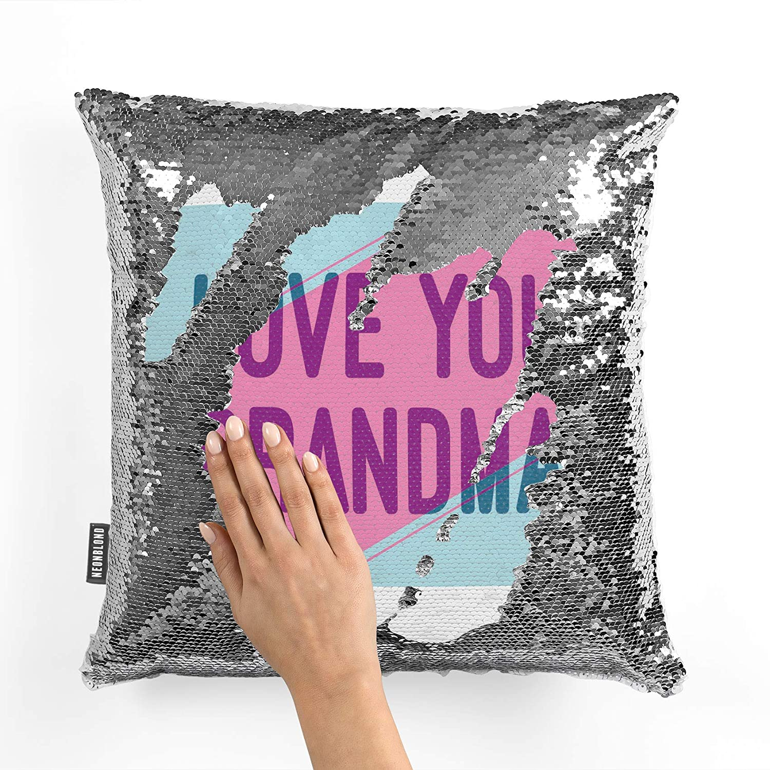 Amazon.com: NEONBLOND Mermaid Pillow Cover Love You Grandma ...