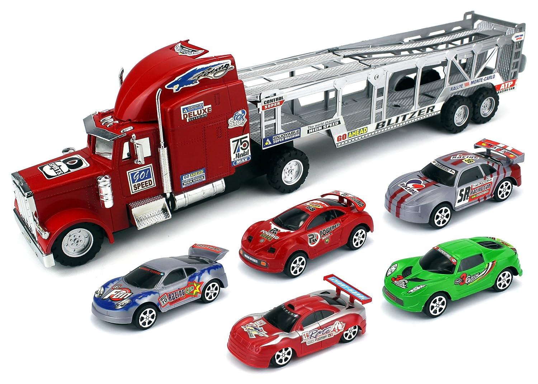 Amazon.com: Speed Blitzer Trailer Children\'s Friction Toy Truck ...