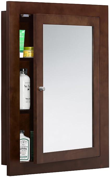 Charmant RONBOW Frederick 24u0026quot; X 32u0026quot; Transitional Solid Wood Frame Bathroom Medicine  Cabinet In Dark