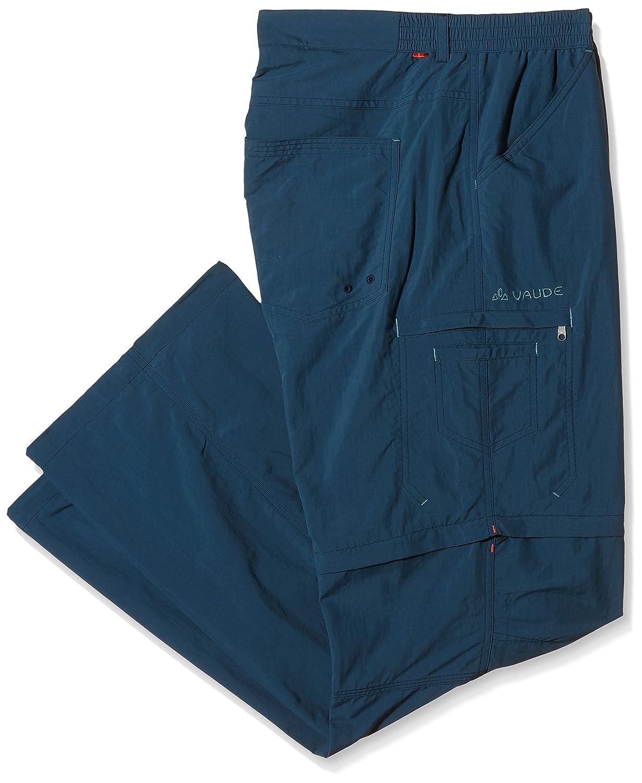VAUDE Farley Zo Pantalones de Senderismo, Mujer, Gris/Dark Petrol, 34-Short