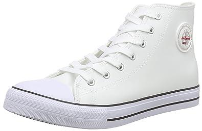 Nebulus VOLL-Leder-Evo, Sneakers Hautes Homme, Blanc (White), 45 EU