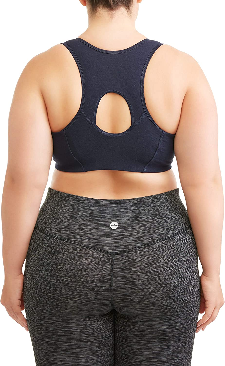 Athletic Works Womens Plus Size Zipper Front Sports Bra