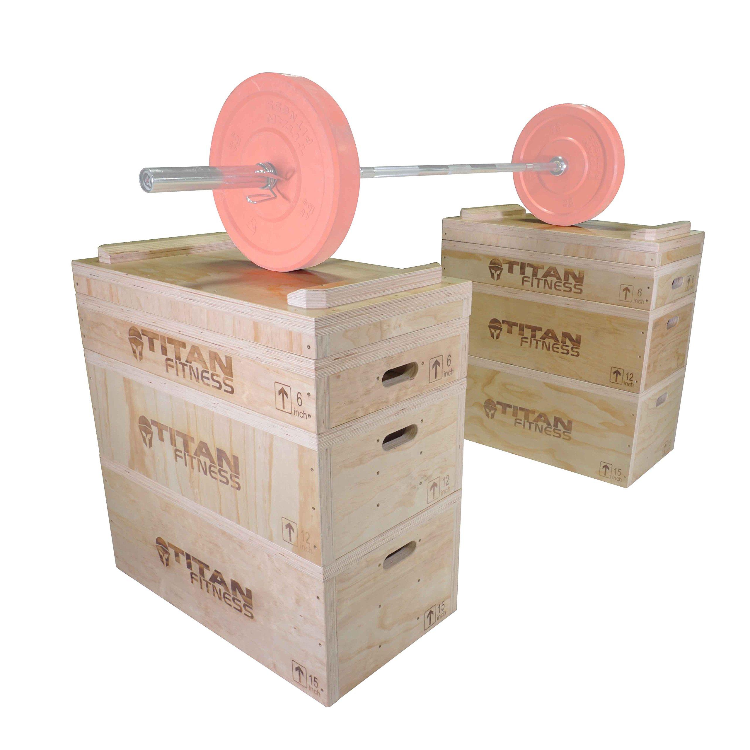 Titan Wood Jerk & Clean Block Set by Titan Fitness