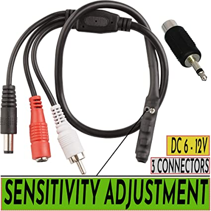 Mic Microphone Audio Monitor Clear Sound Pick-up Device for CCTV Security Camera