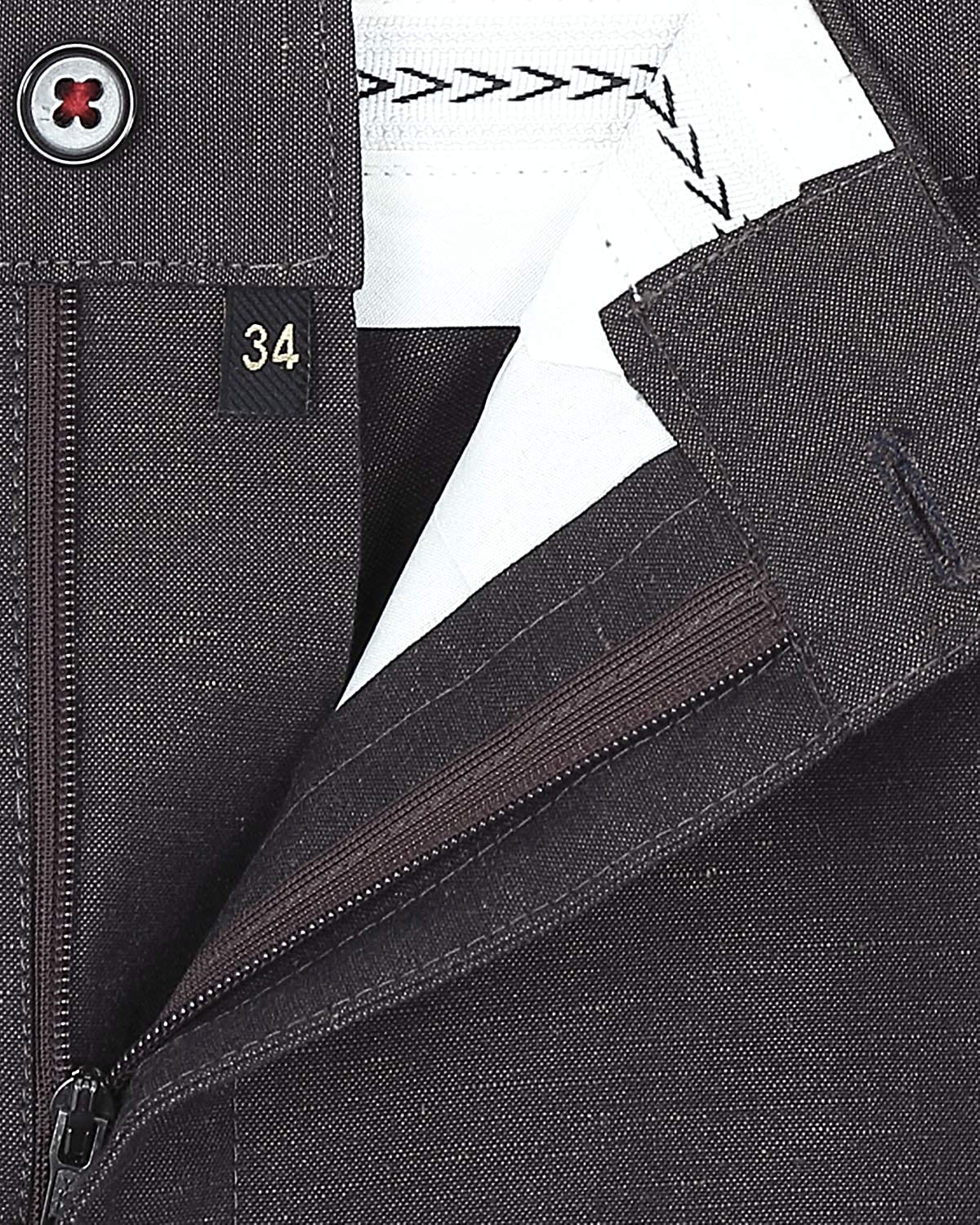 36 French crown Chocolate Brown Regular fit Linen Trouser