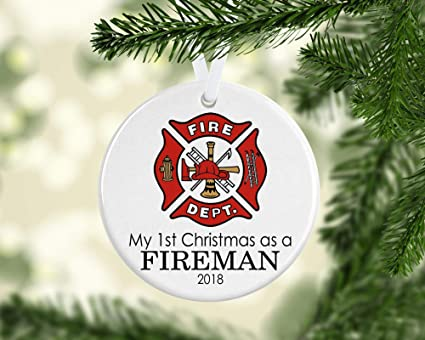 Image Unavailable. Image not available for. Color: Firefighter Christmas  Ornament ... - Amazon.com: Firefighter Christmas Ornament, Firefighter Christmas