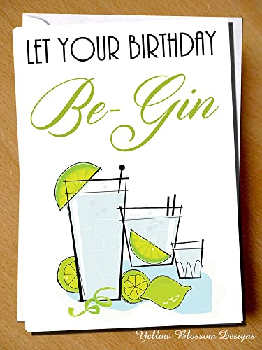Funny Birthday Card Sister Husband Mother Auntie Friend Gin Tonic