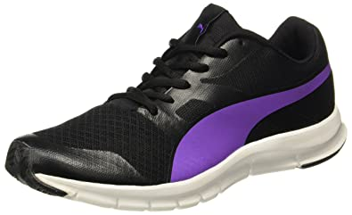 b20b4a7e135 Puma Women s Flexracer Dp Black and Electric Purple Running Shoes - 3  UK India (